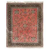 Modern Scarlet Ground Persian Carpet (Some Wear)