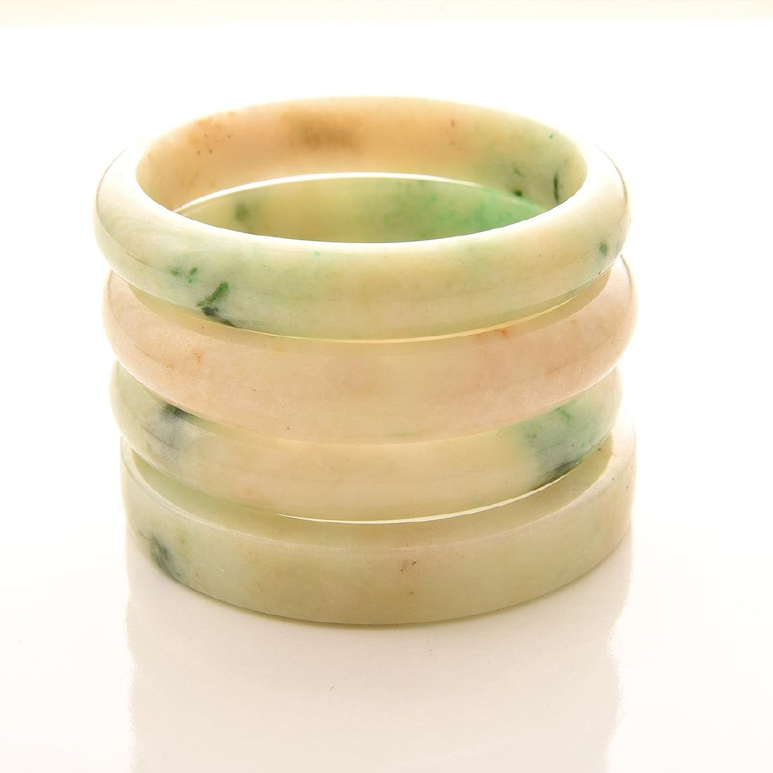 Collection of  Four Jade Bangle Bracelets. - 3