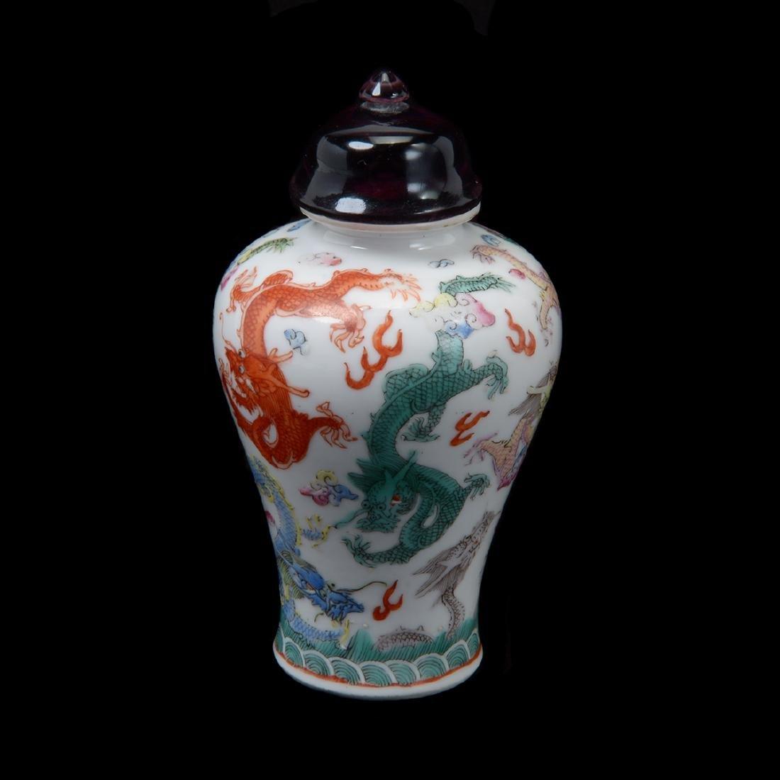 Famille Rose 'Dragon' Snuff Bottle, 19th Century
