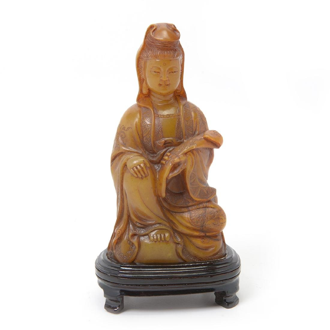 Soapstone Figure of Guanyin, 20th Century