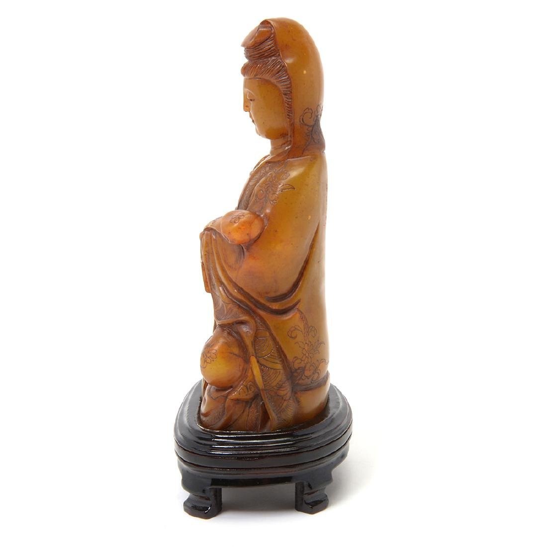 Soapstone Figure of Guanyin, 20th Century - 2