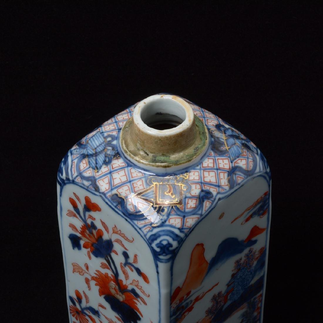 Pair of Chinese Imari Square Bottles, Kangxi Period - 6