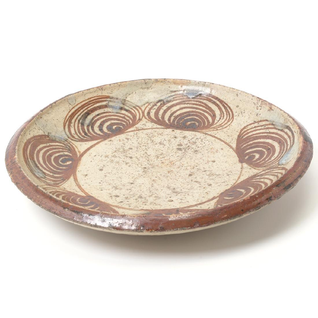 Japanese Mingei 'Horse-Eye' Dish, Edo Period