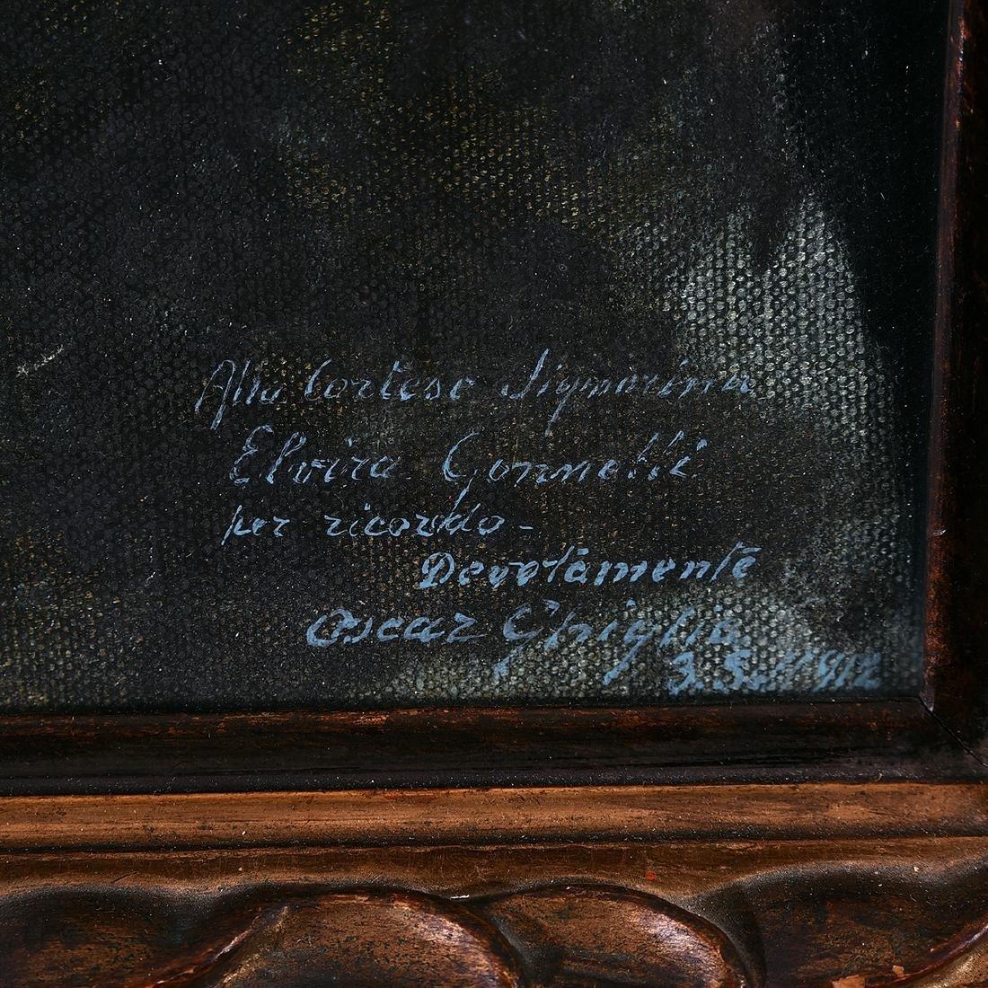 "Oscar Ghiglia ""Portrait of Ms. Gonnetti"" oil on canvas - 2"