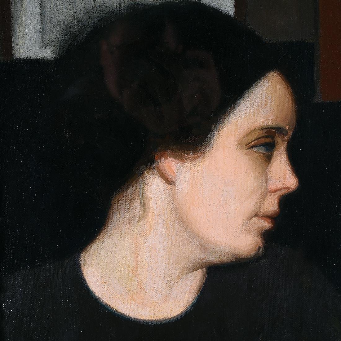 "Oscar Ghiglia ""Portrait of Ms. Gonnetti"" oil on canvas - 3"