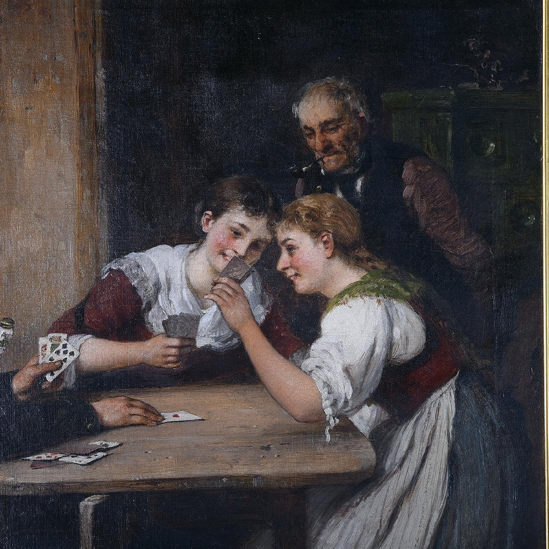 "Hugo Oehmichen ""Winning Hand"" oil on canvas - 2"