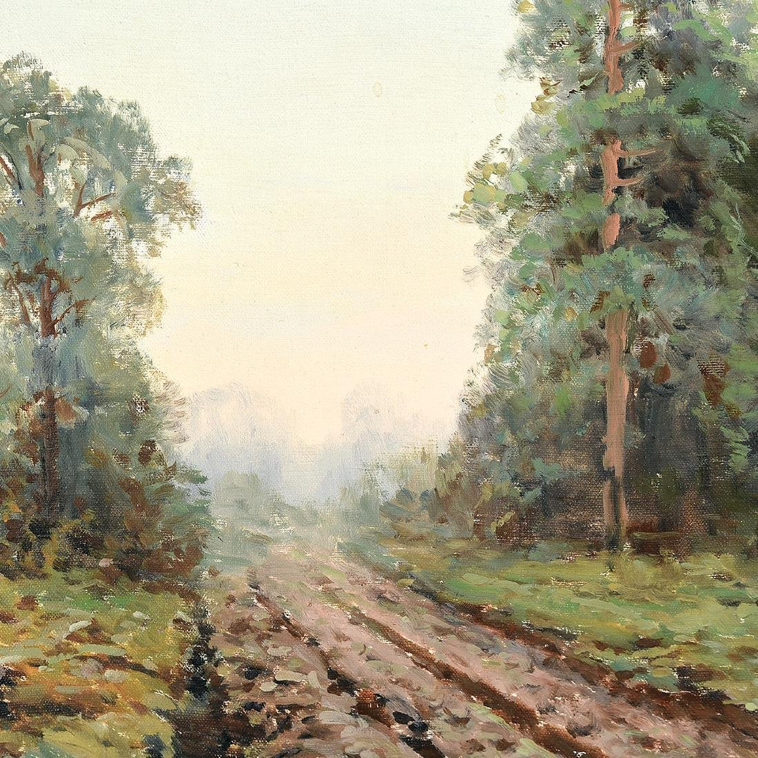 "Victor Korecki ""Country Road"" oil on canvas - 3"