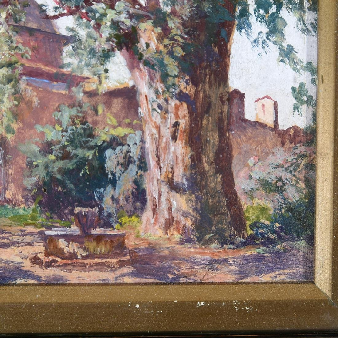 """Attributed to Adolfo Belimbau """"Italian Country House"""" - 2"""