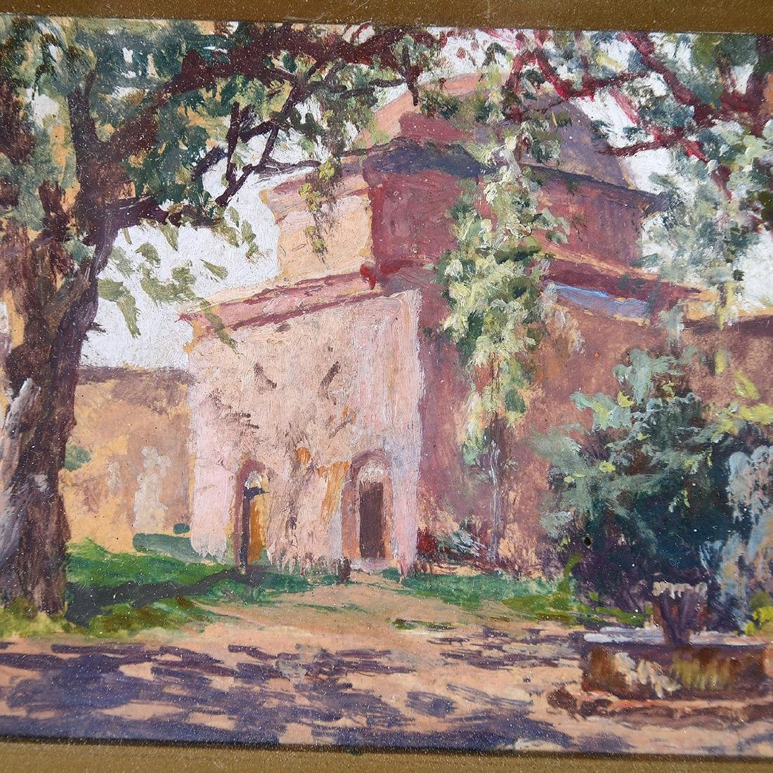 """Attributed to Adolfo Belimbau """"Italian Country House"""" - 3"""