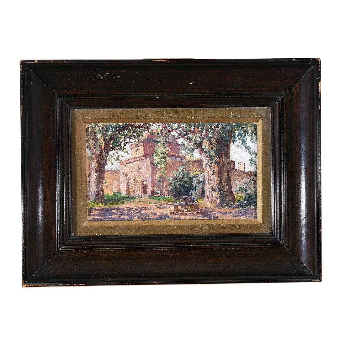 """Attributed to Adolfo Belimbau """"Italian Country House"""" - 4"""