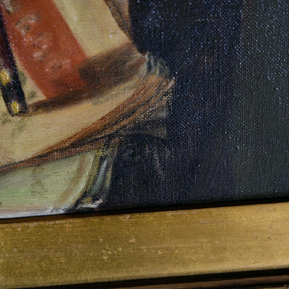 "European School ""Still Life with Violin"" oil on canvas - 2"
