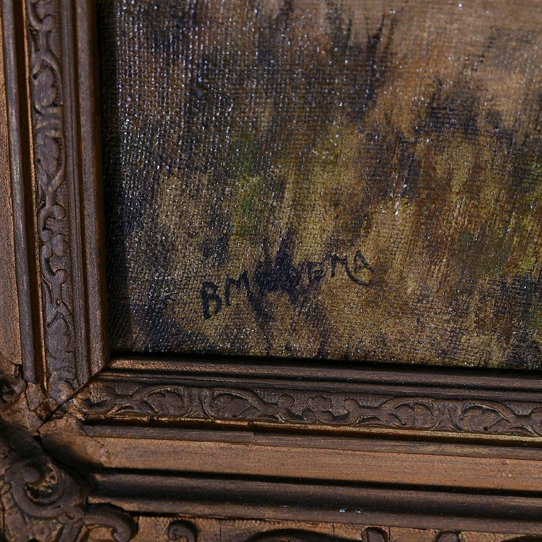 "B. Medema ""Tending the Flock"" oil on canvas - 2"