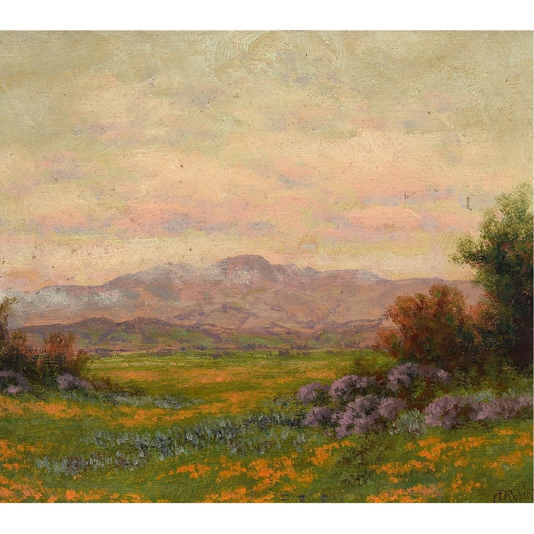 "Charles Dormon Robinson ""Mt. Hamilton From San Jose"
