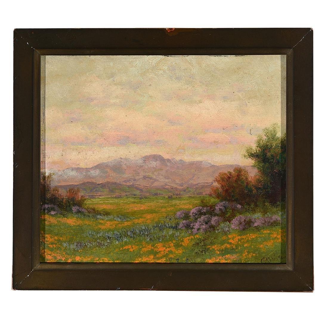 "Charles Dormon Robinson ""Mt. Hamilton From San Jose - 4"