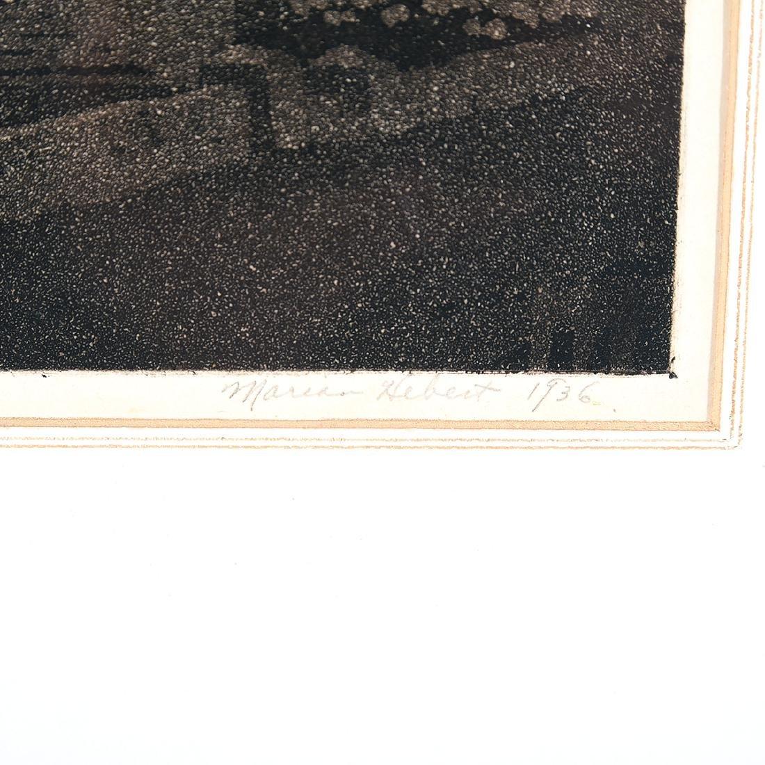 "Frances Marian Hebert ""Evening Prayers"" aquatint - 2"