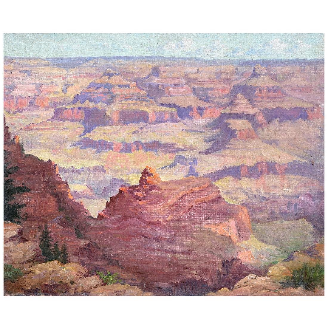 "American School ""Grand Canyon"" oil on canvas"