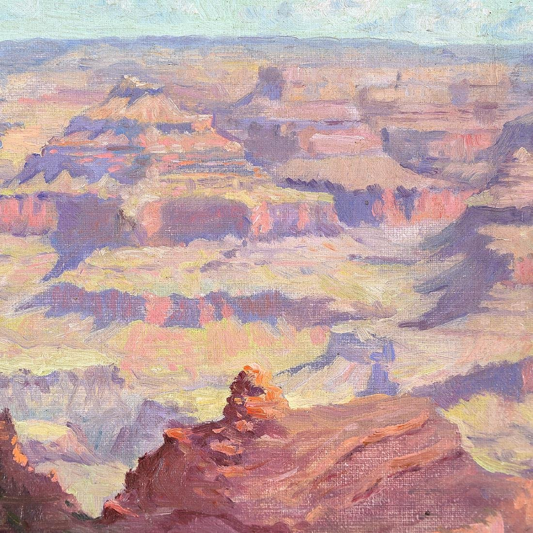 "American School ""Grand Canyon"" oil on canvas - 3"