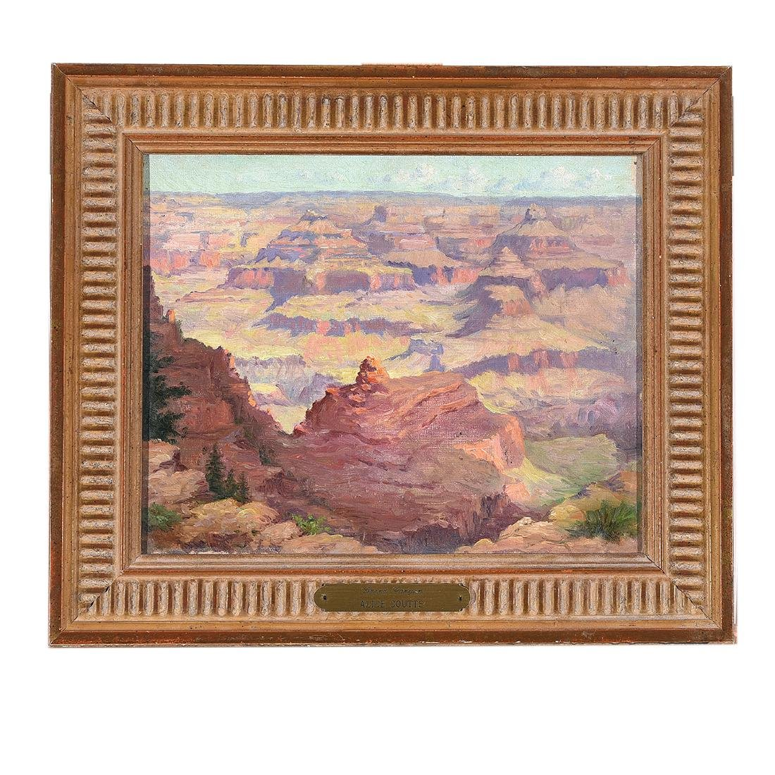 "American School ""Grand Canyon"" oil on canvas - 4"