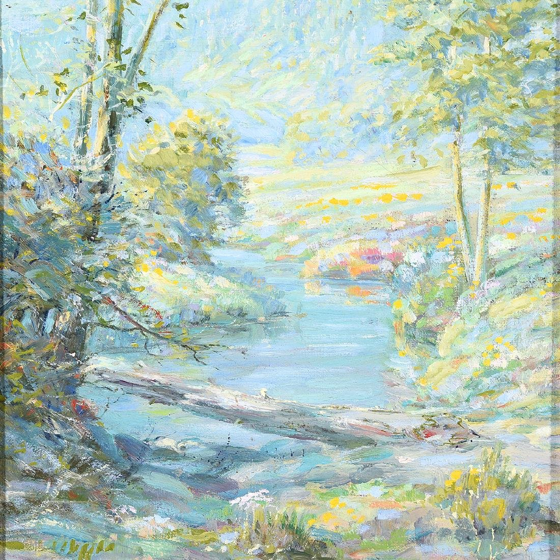 "F. E Wilson ""Mountain Creek"" oil on board - 3"
