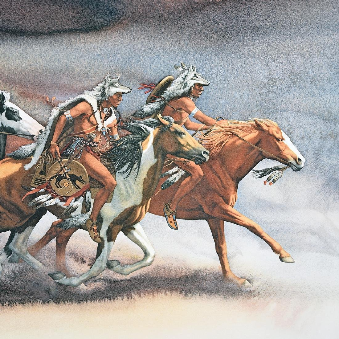 """Bev Doolittle 2 """"Western Scenes"""" offset lithos - 6"""