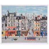 "Michel Delacroix ""Rue R. Dufy"" lithograph"