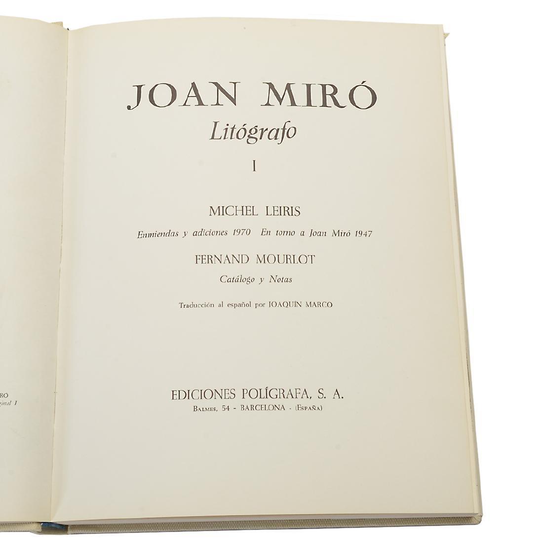Set of 4 Books including three volumes of Joan Miro - 10