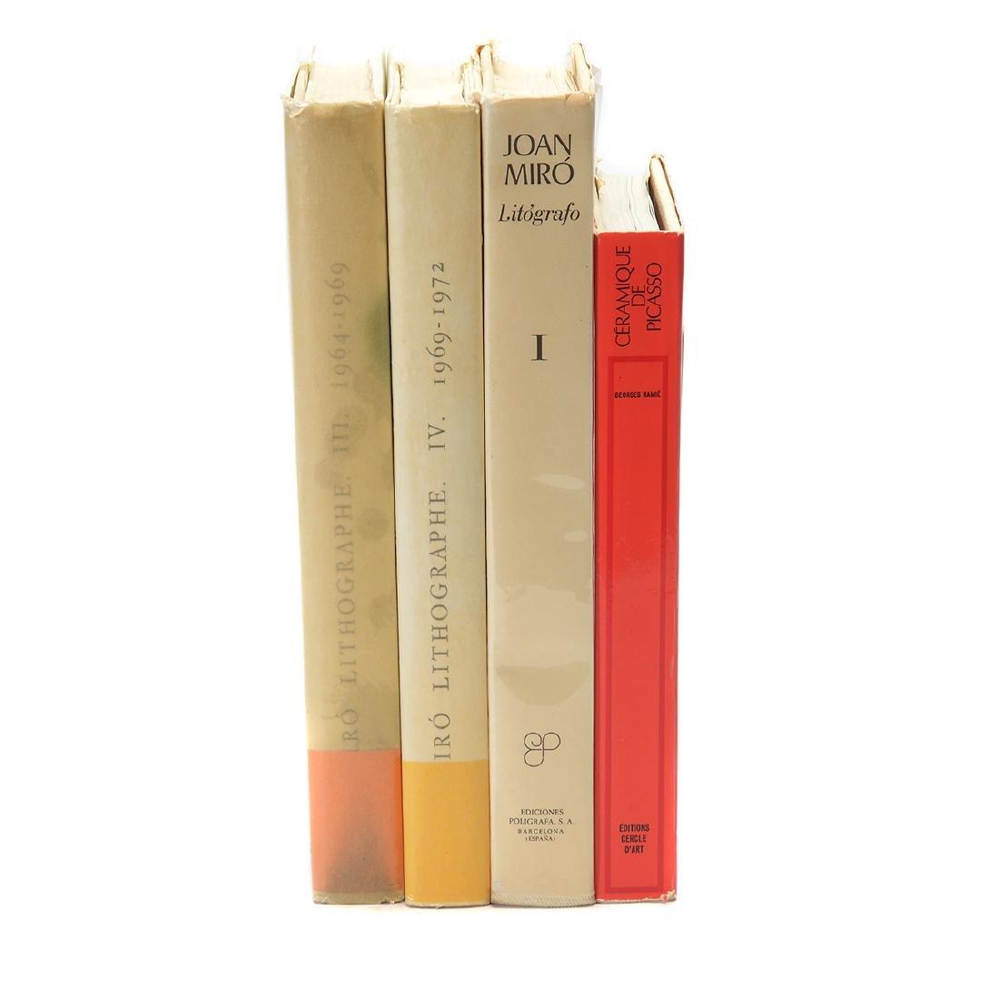 Set of 4 Books including three volumes of Joan Miro