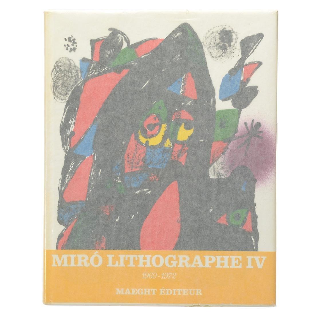 Set of 4 Books including three volumes of Joan Miro - 4