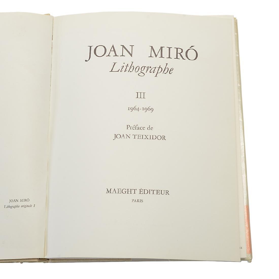 Set of 4 Books including three volumes of Joan Miro - 6