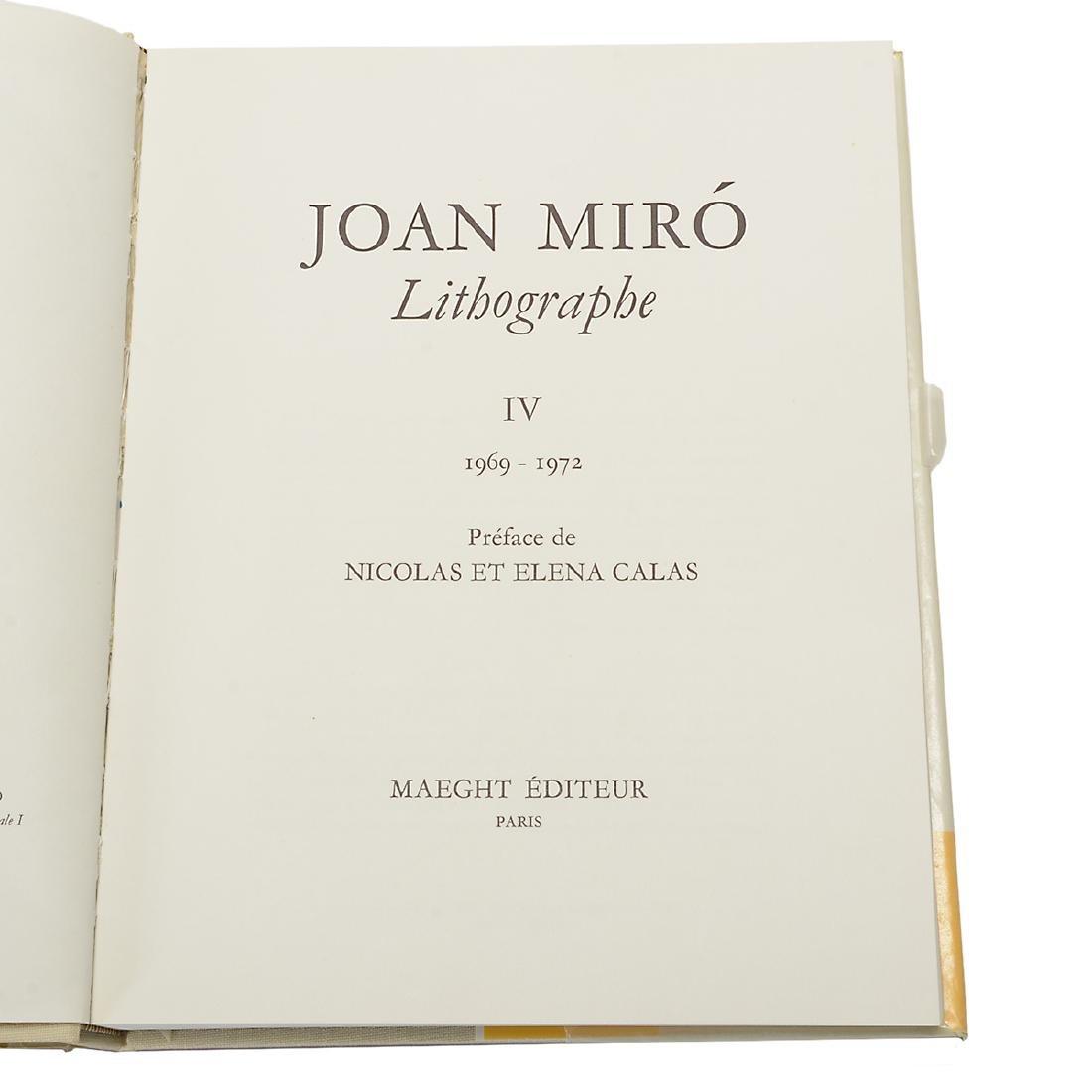Set of 4 Books including three volumes of Joan Miro - 8