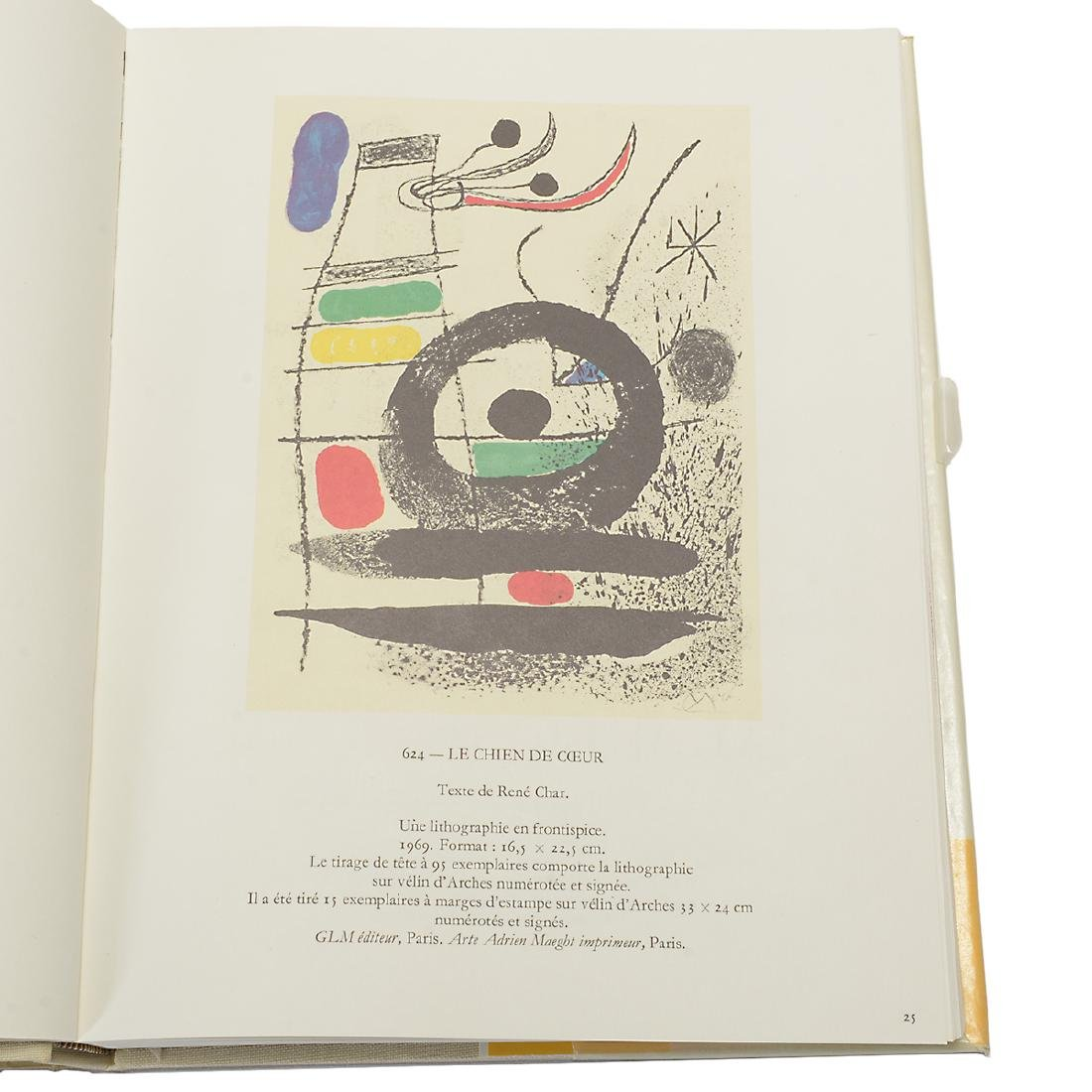 Set of 4 Books including three volumes of Joan Miro - 9