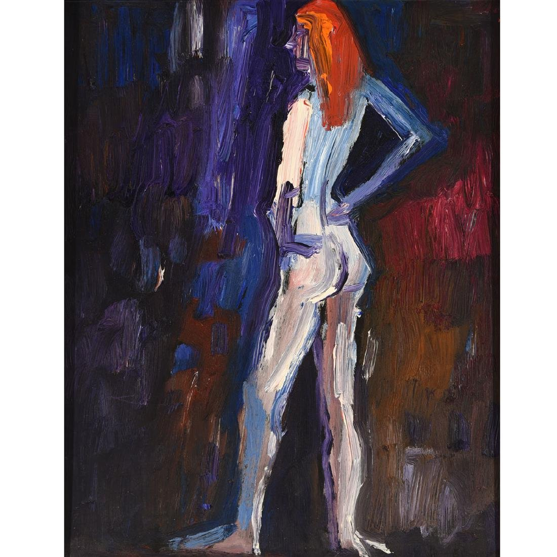 "Lundy Siegriest ""Standing Figure"" oil on board"