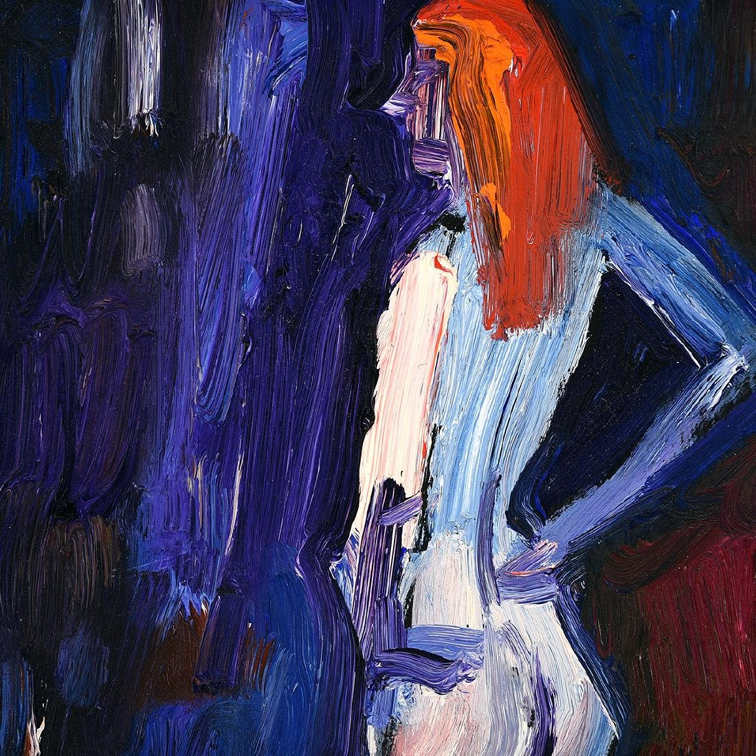 "Lundy Siegriest ""Standing Figure"" oil on board - 2"