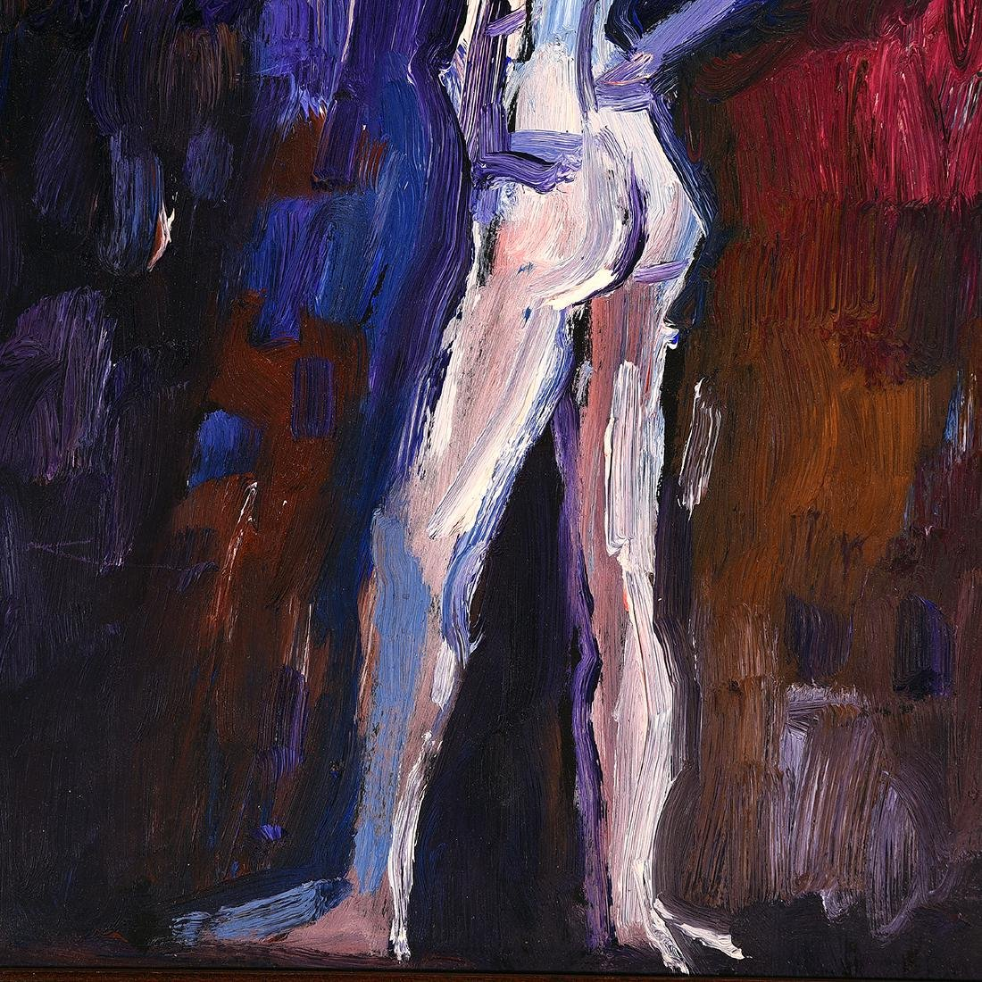 "Lundy Siegriest ""Standing Figure"" oil on board - 3"