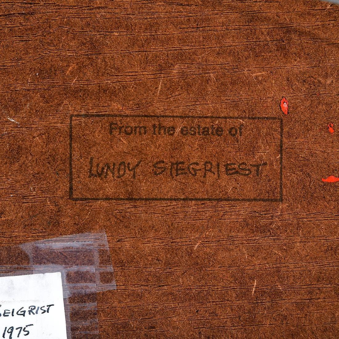 "Lundy Siegriest ""Standing Figure"" oil on board - 5"
