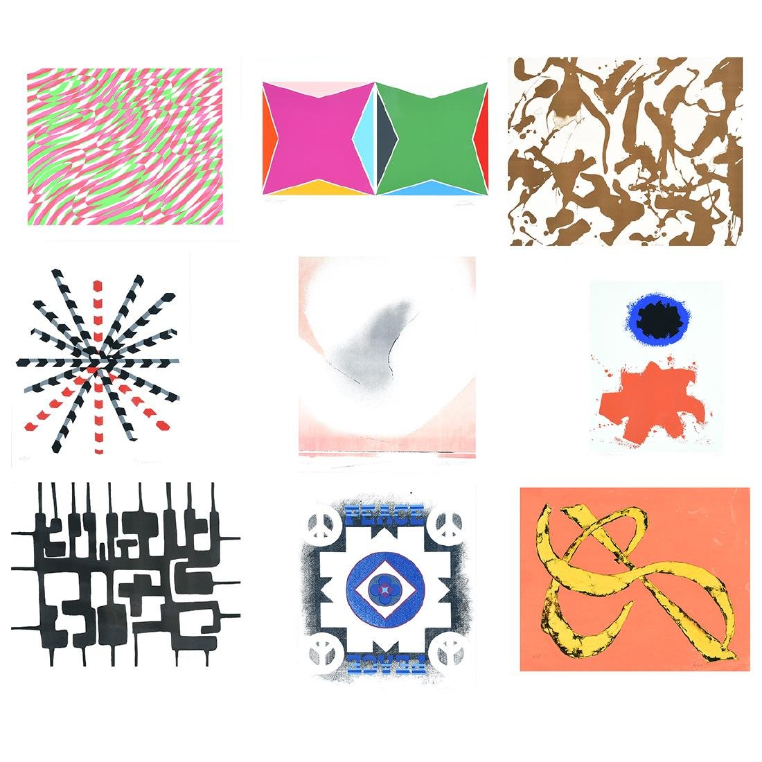 "Various Artist ""Peace Portfolio I"" (9 works) prints"
