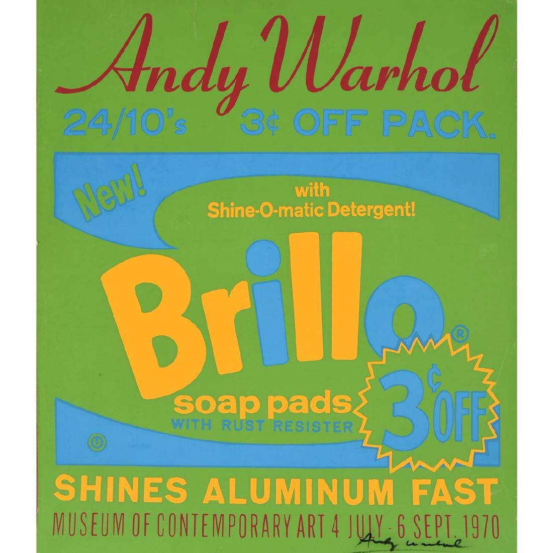"Andy Warhol ""Brillo"" silkscreen exhibition poster"