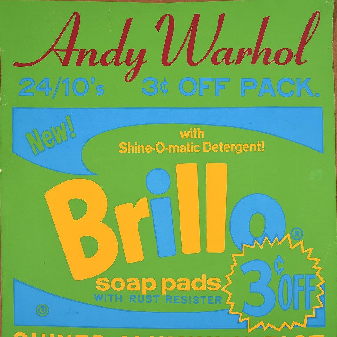 "Andy Warhol ""Brillo"" silkscreen exhibition poster - 3"