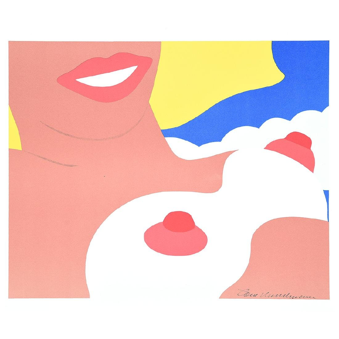 "Tom Wesselmann ""Nude 1965"" lithograph printed 1970."