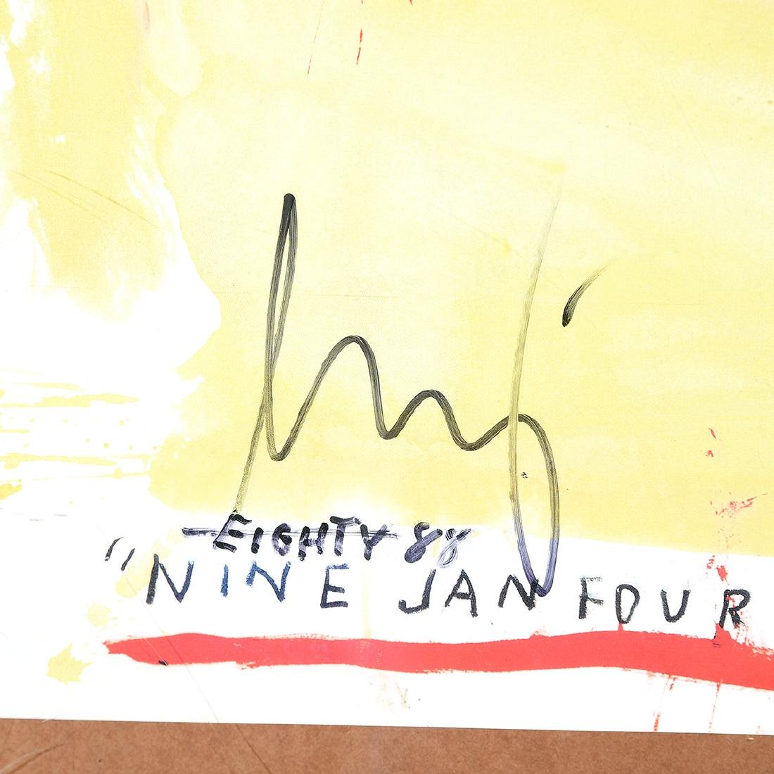 """Jean-Michel Basquiat """"Supercomb"""" exhibition poster from - 3"""