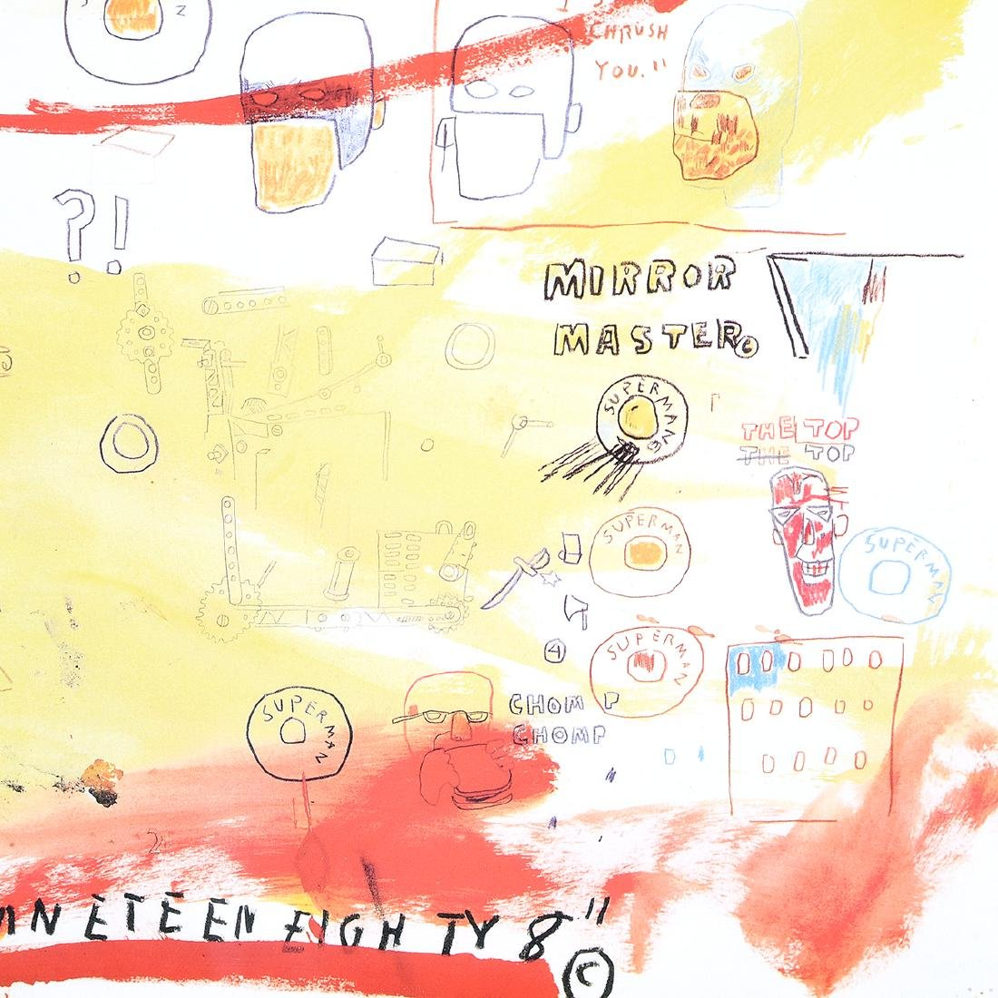 """Jean-Michel Basquiat """"Supercomb"""" exhibition poster from - 4"""