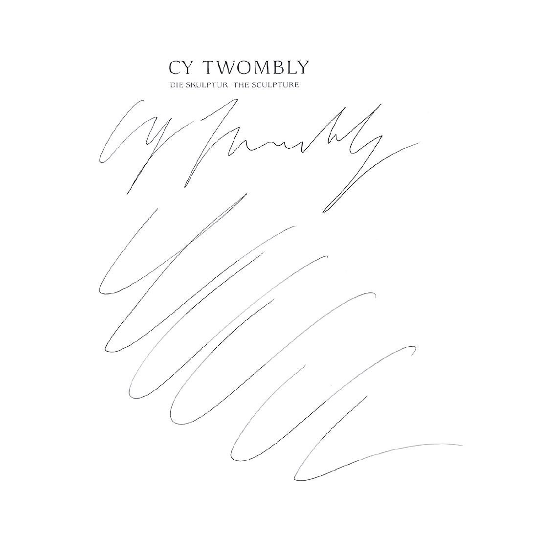 """Cy Twombly """"The Sculpture"""" signed book page"""