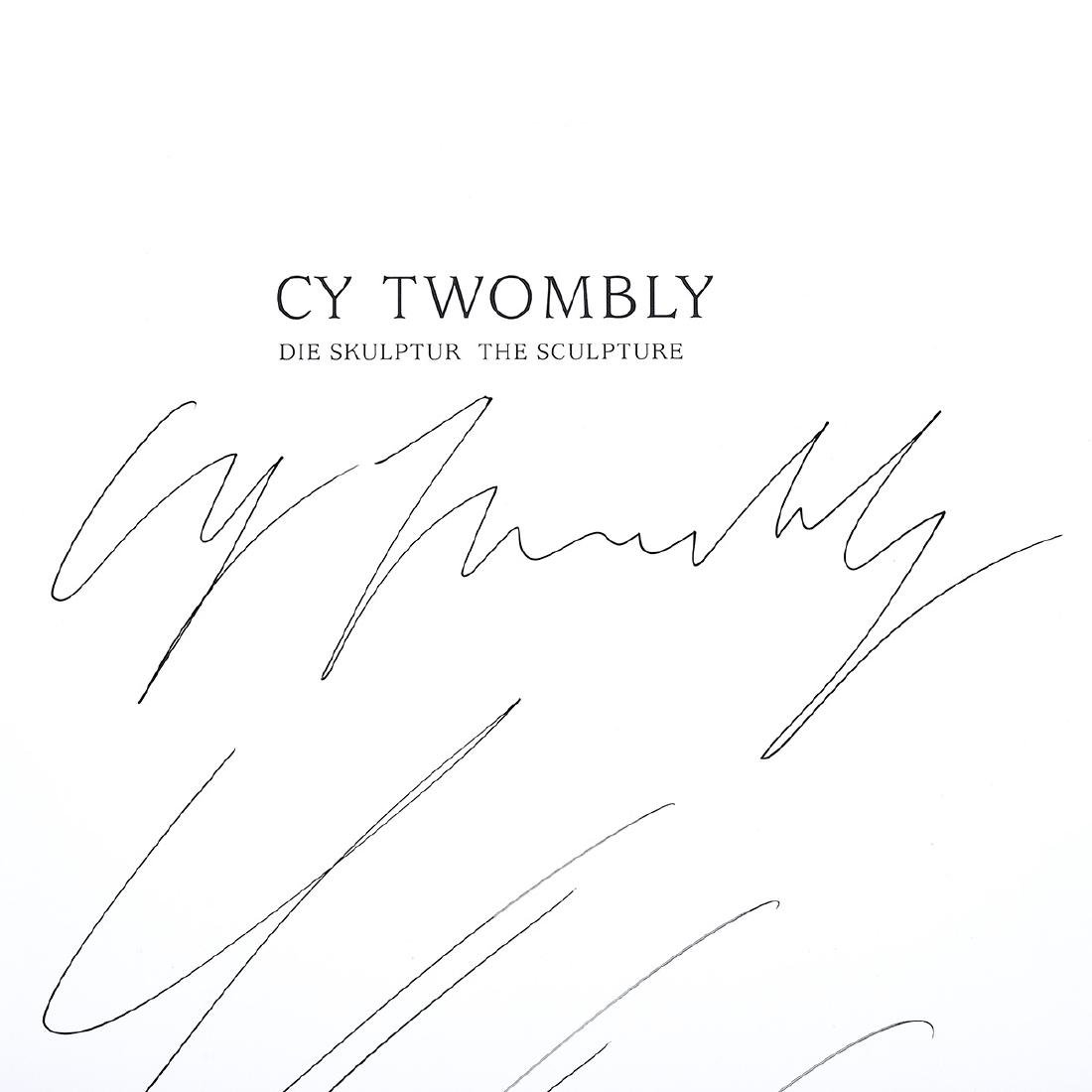 """Cy Twombly """"The Sculpture"""" signed book page - 2"""