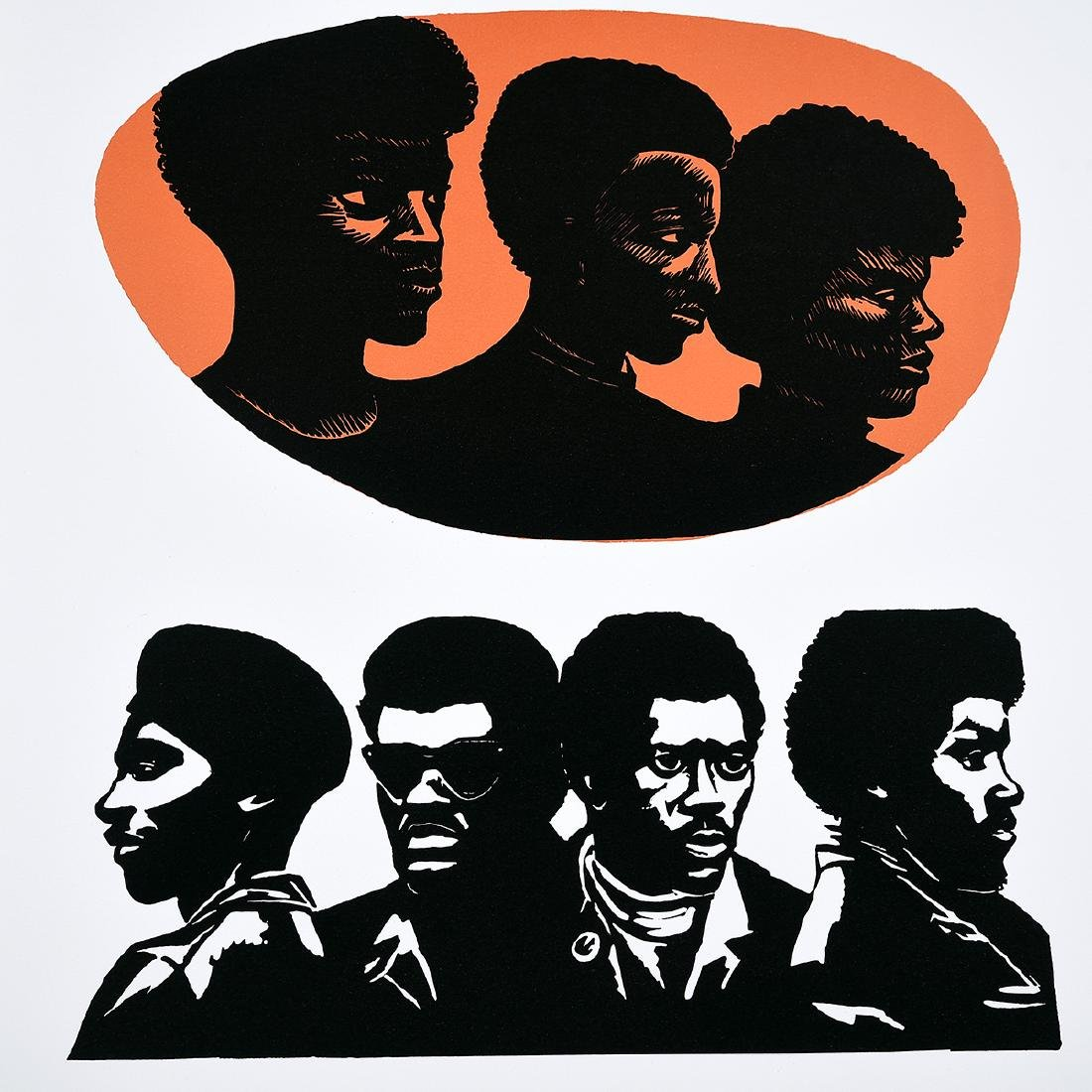 "Elizabeth Catlett ""Homage to the Panthers"" color - 4"