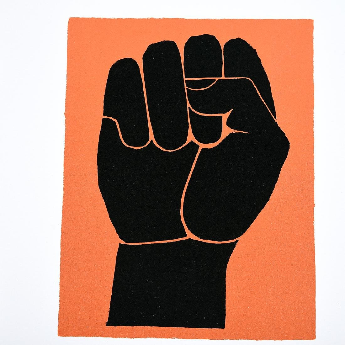 "Elizabeth Catlett ""Homage to the Panthers"" color - 5"