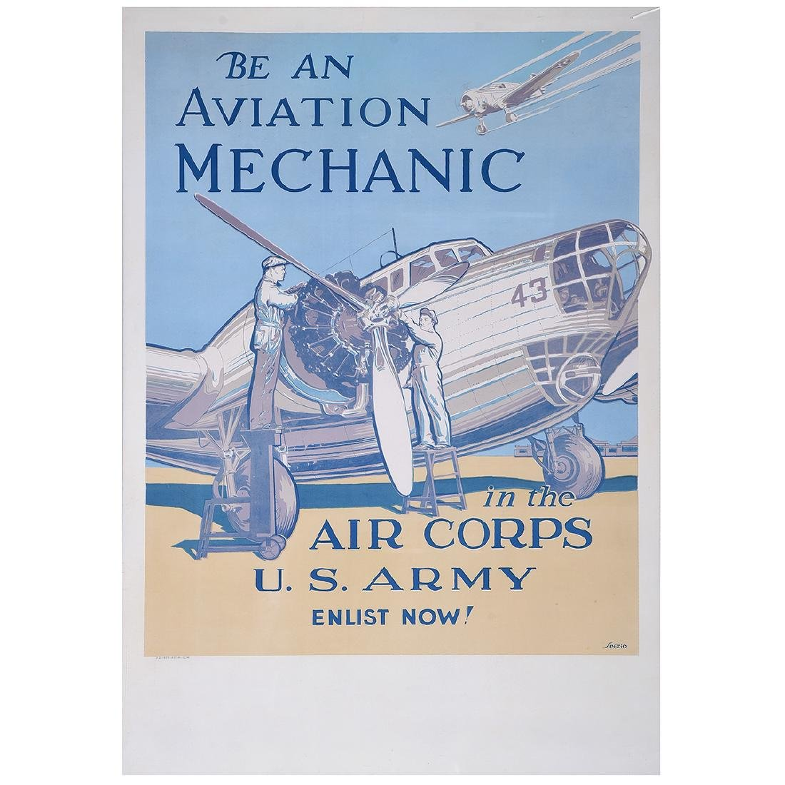 "Spezio ""Be An Aviation Mechanic"" lithograph poster"