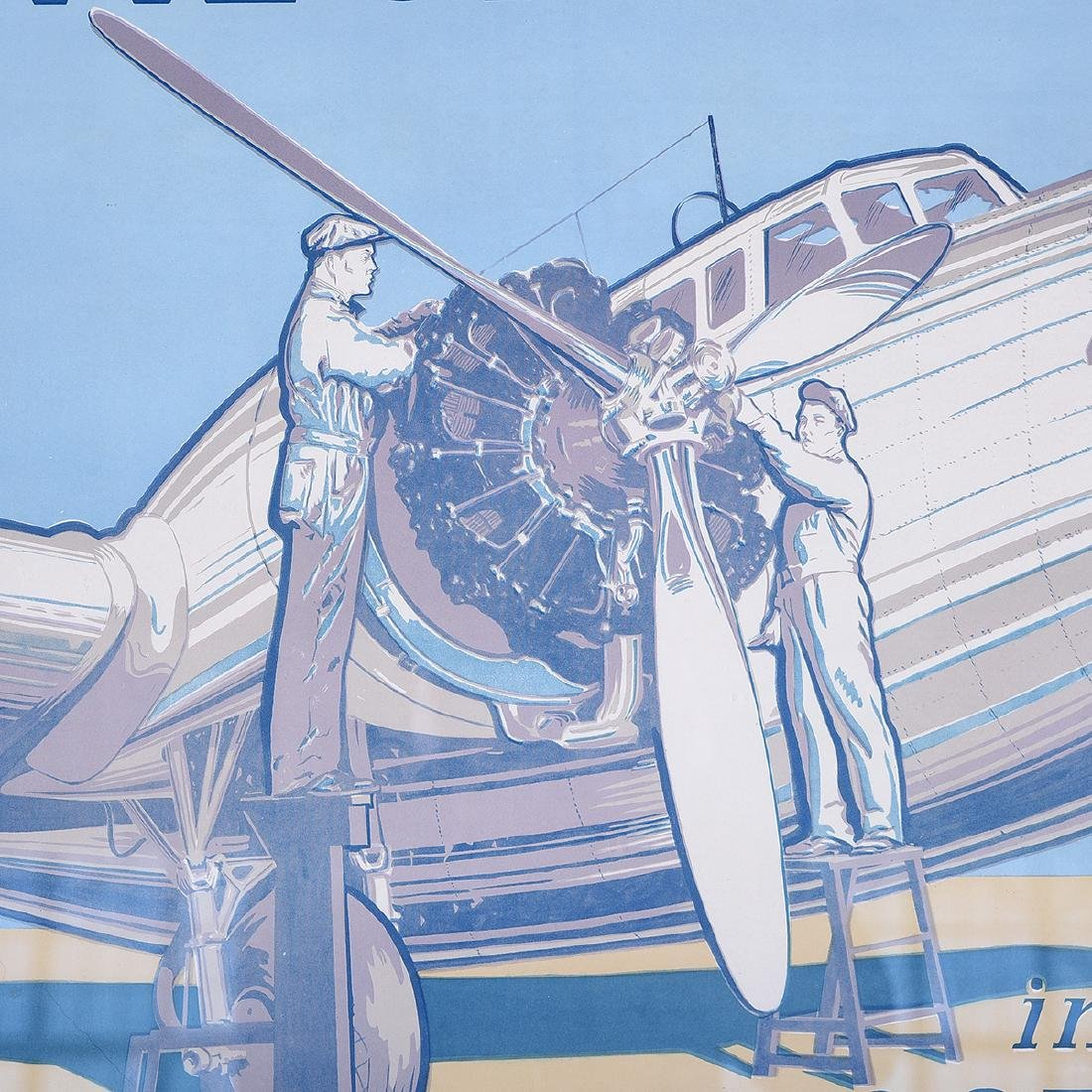 "Spezio ""Be An Aviation Mechanic"" lithograph poster - 3"