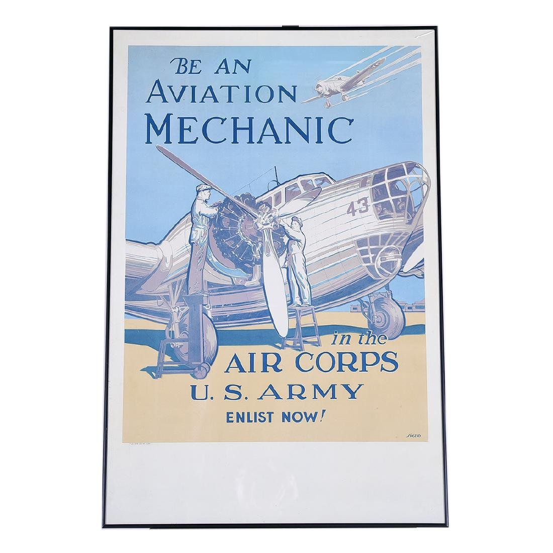 "Spezio ""Be An Aviation Mechanic"" lithograph poster - 4"