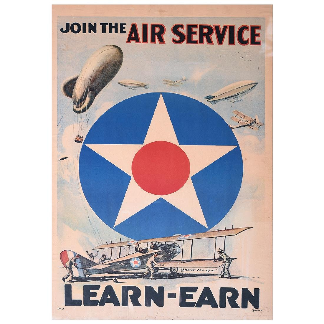 "American School ""Join the Air Service... Learn -Earn"""