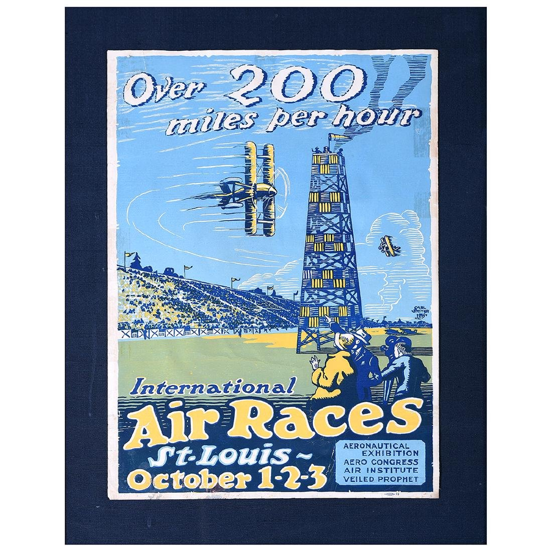 "Carl Walter ""Over 200 miles... International Air Races"